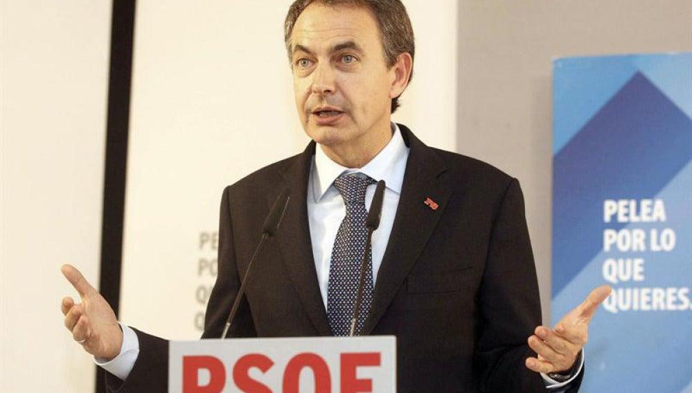 Zapatero, durante un mitin