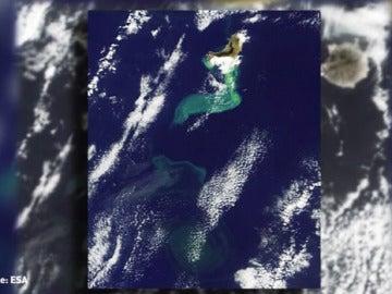 Vista de la isla de El Hierro desde el espacio.