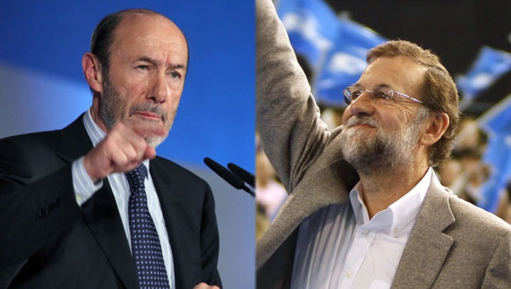 Rubalcaba y Mariano Rajoy