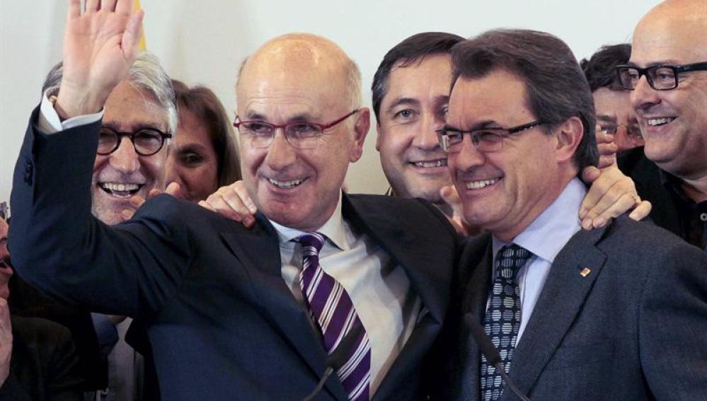 Duran Lleida junto a Mas