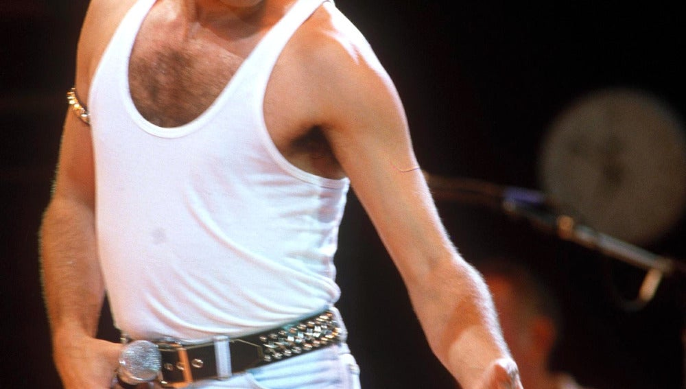 Freddie en uno de sus conciertos