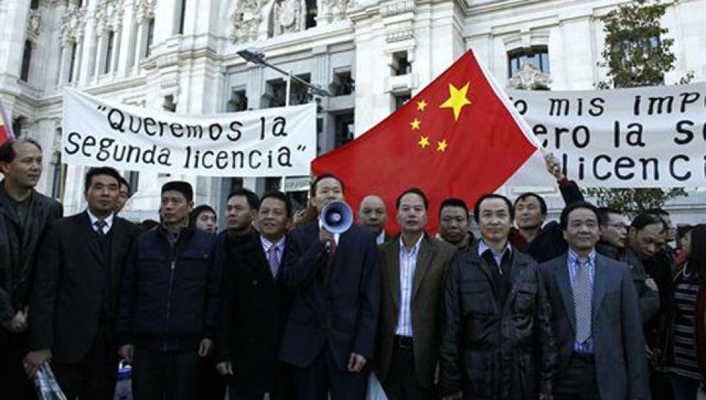 Comerciantes chinos