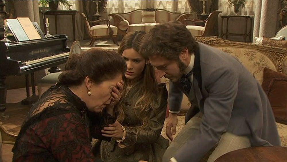 Tristán cuenta la verdad de Pepa a su madre y hermana