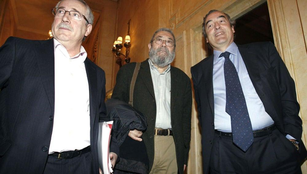 Toxo, Méndez y Rosell juntos en un foro