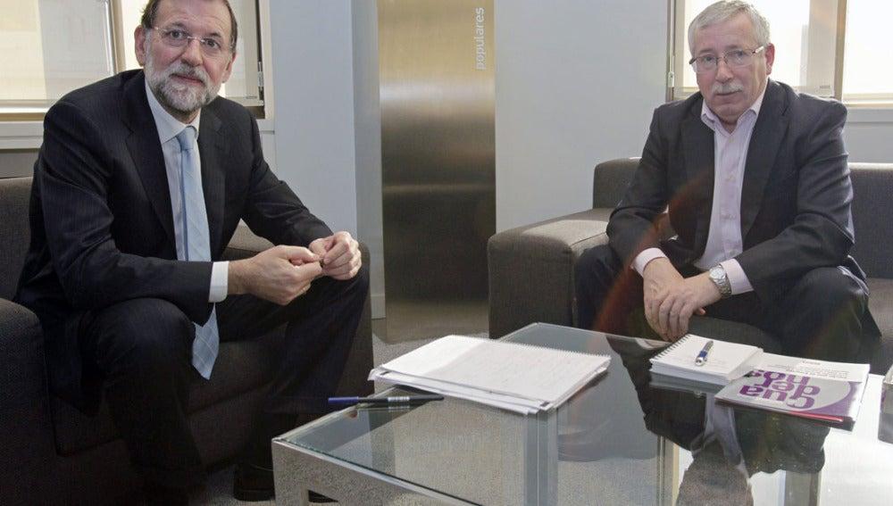 Ignacio Fernández Toxo junto a Mariano Rajoy