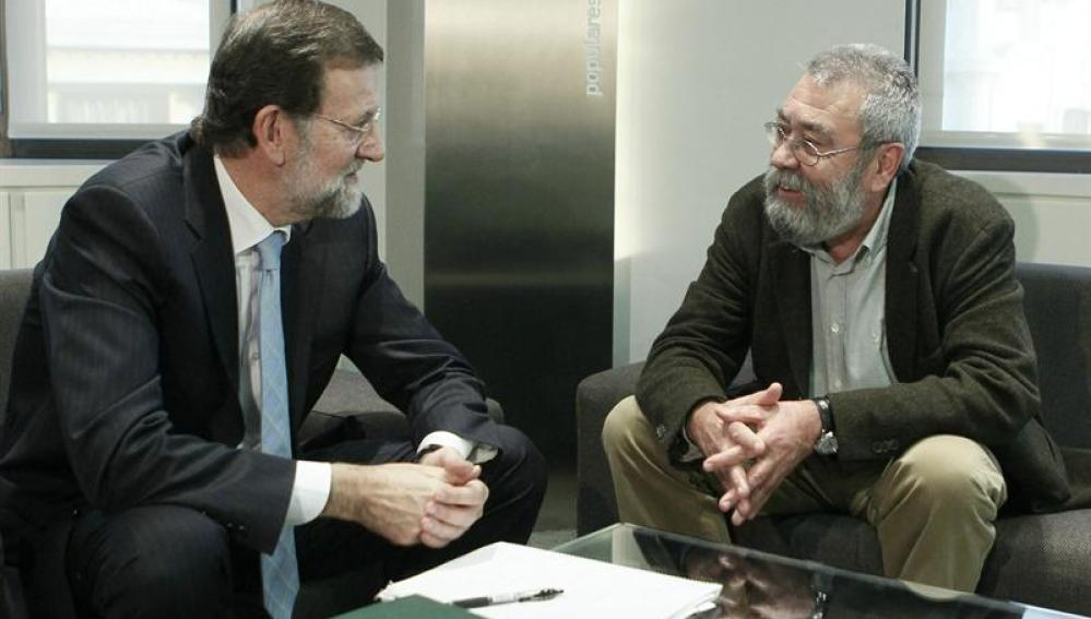 Encuentro entre Rajoy y Cándido Méndez