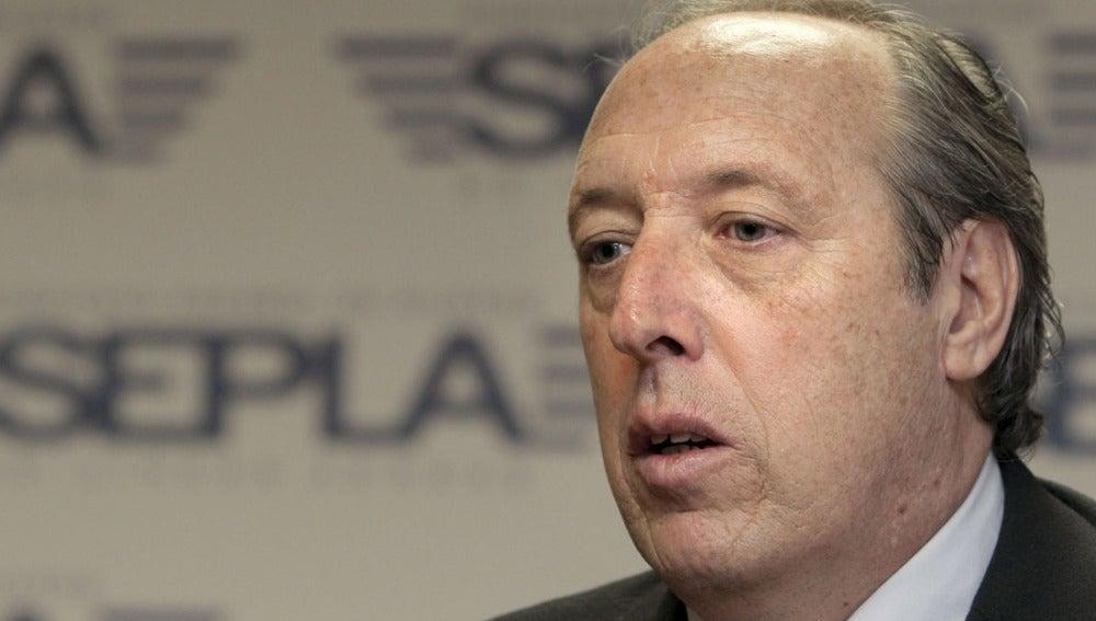 Justo Peral, presidente de la sección sindical del SEPLA-Iberia