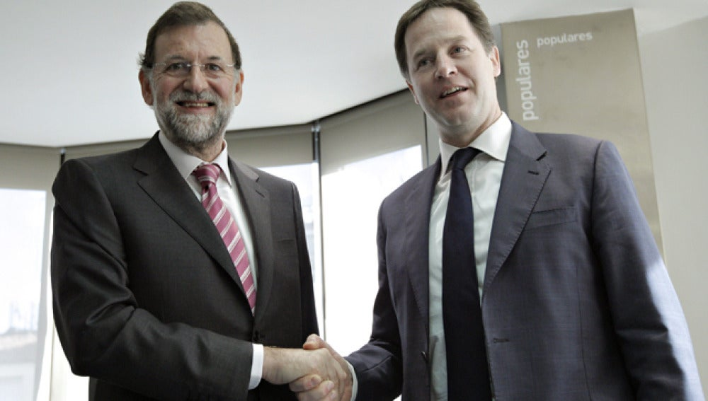 Reunión entre Mariano Rajoy y Nick Clegg