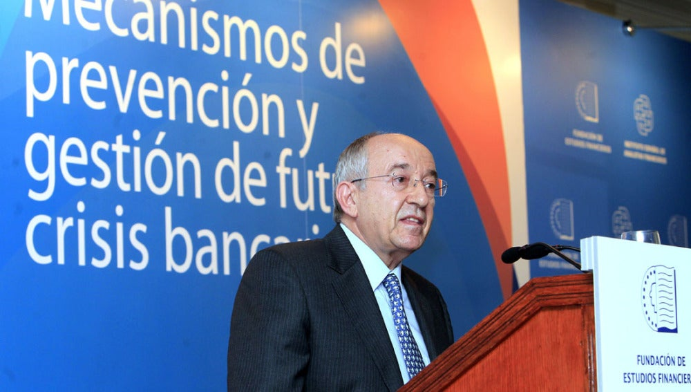 El gobernador del Banco de España, Miguel Ángel Fernández