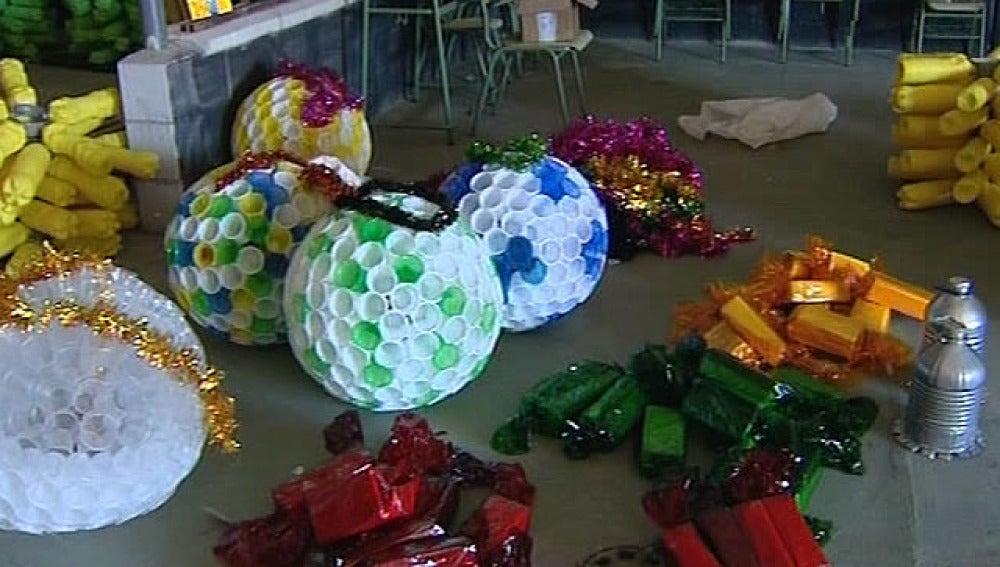 Imagenes de aternos de navidad reciclados manualidades
