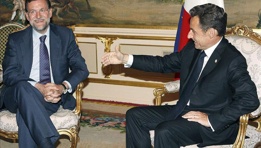 Mariano Rajoy con Nicolas Sarkozy