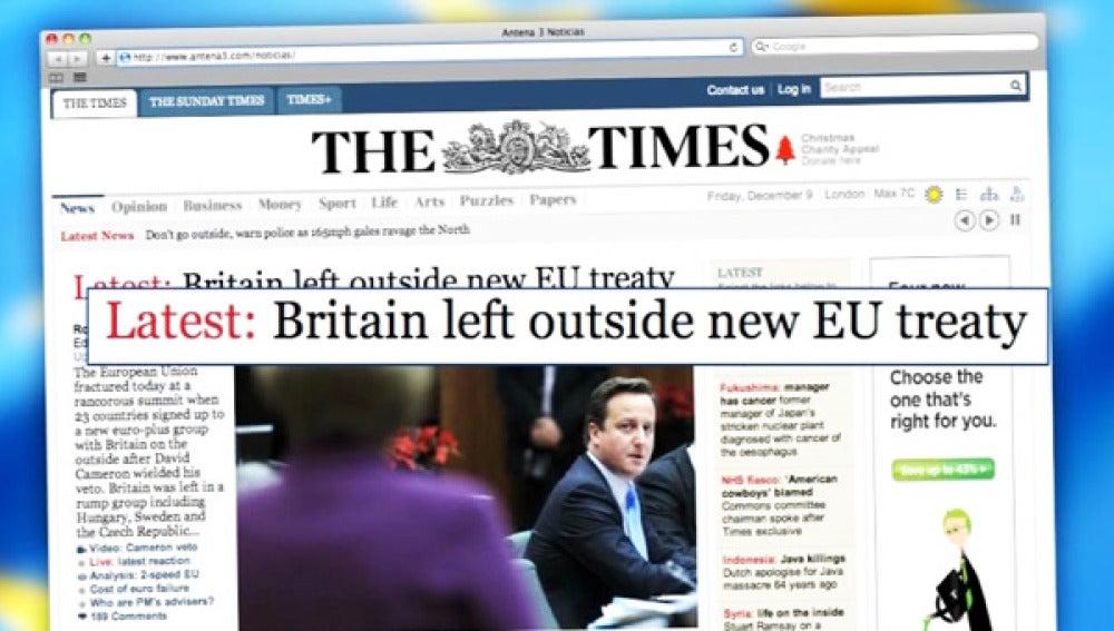 David Cameron ocupa portadas de prensa