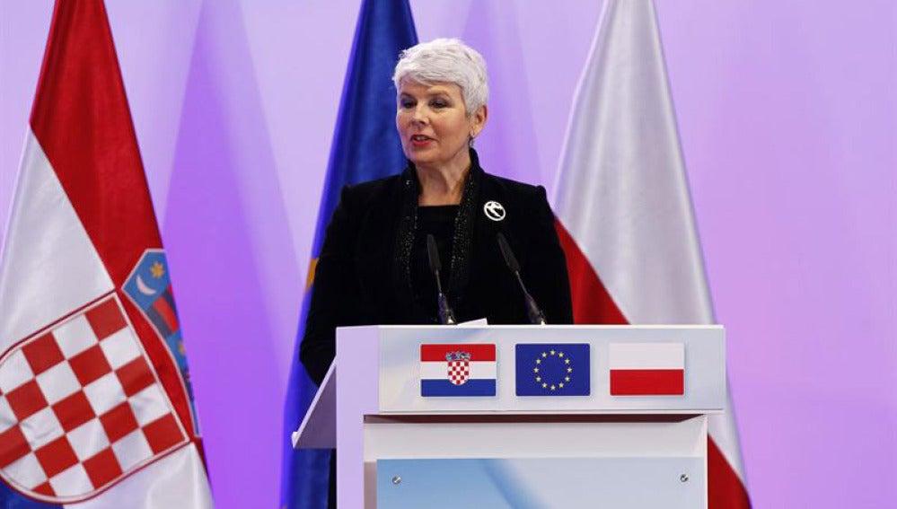 La primera ministra croata, Jadranka Kosor