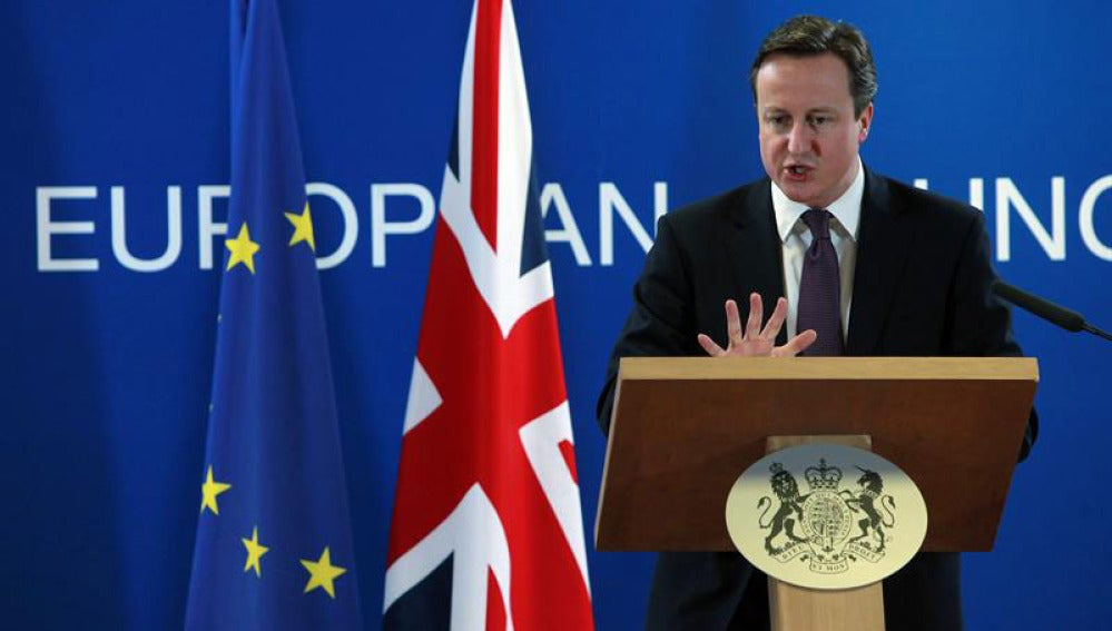 David Cameron, durante la cumbre