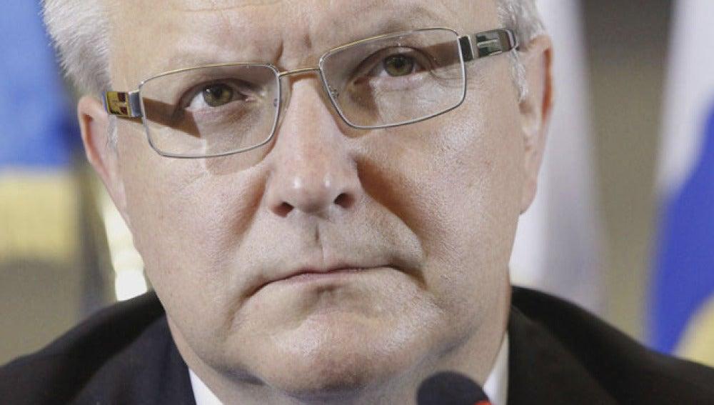 Olli Rehn, comisario europeo de Economía