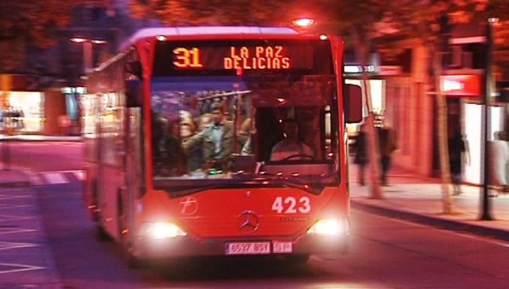 Transporte público en Zaragoza.