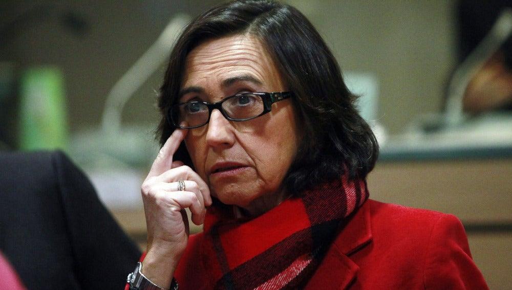 Rosa Aguilar en el Consejo de Ministros europeo