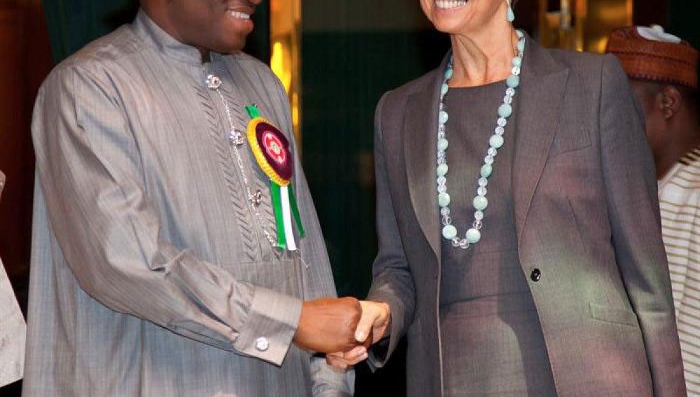 Christine Lagarde en Nigeria