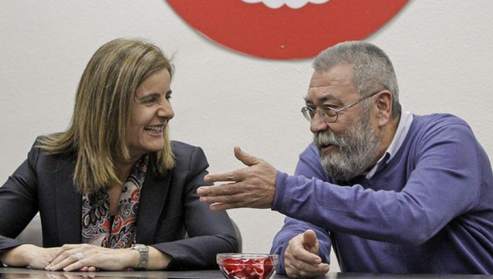 Reunión de Fátima Báñez con Cándido Méndez