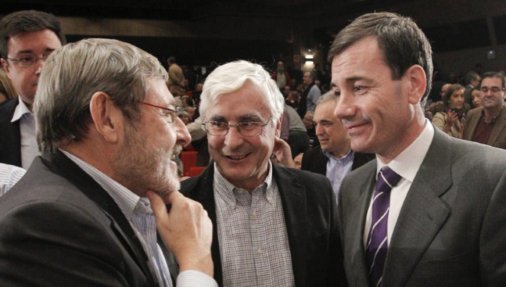 Jaime Lissavetzky, José María Barreda y Tomás Gómez