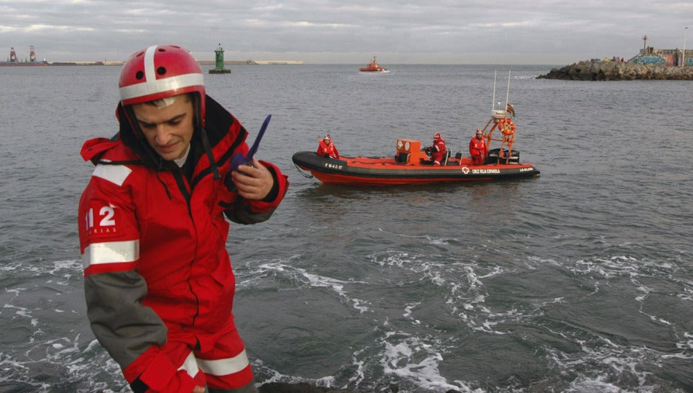 Los Servicios de Salvamento en el puerto de Gijón