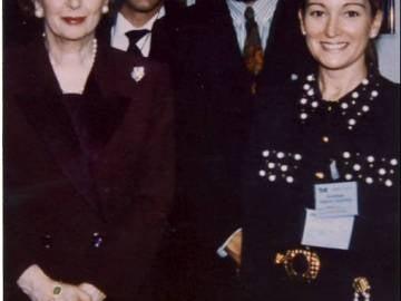 Margaret Thatcher y Amalia Enríquez