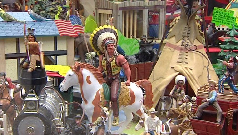 Indios y vaqueros de juguete