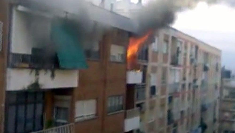 Incendio en una vivienda en Badajoz