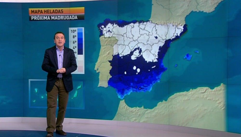 La previsión del tiempo, 09-01-2012, noche