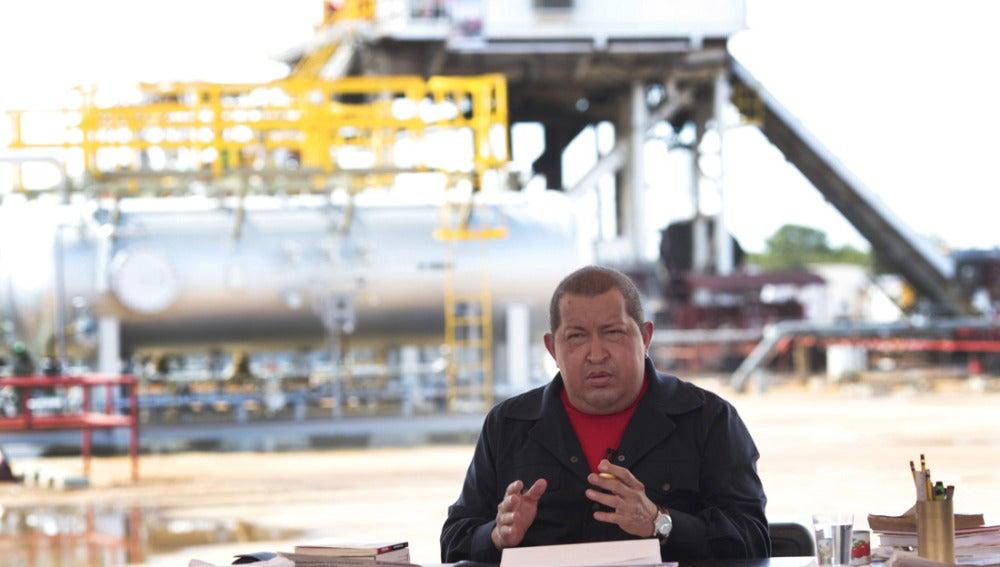 Hugo Chávez durante su programa de televisión