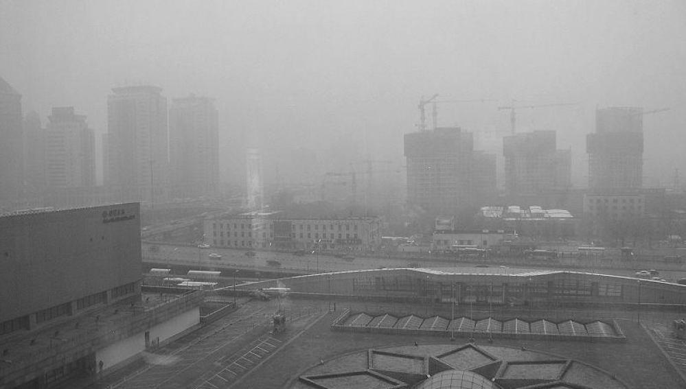 Nube de polución en Pekín