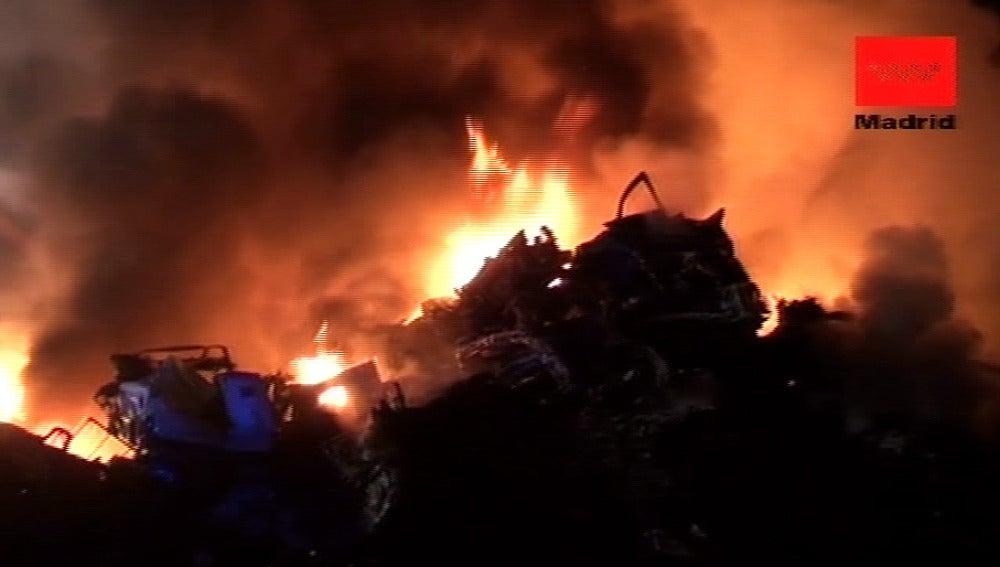 Incendio en San Martín de la Vega