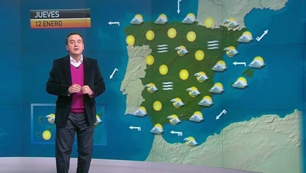 La previsión del tiempo (11-01-2012) Noche