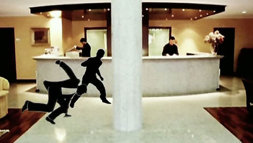 Recreación de la agresión en el hotel