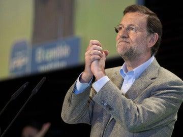 Mariano Rajoy en un acto de Málaga