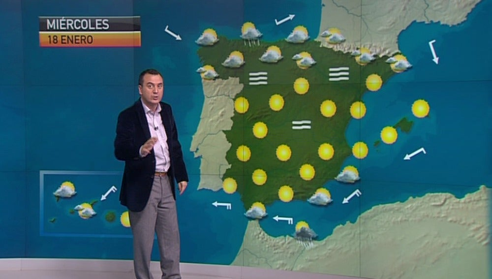 La previsión del tiempo 17-01-2012