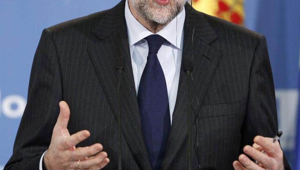 Mariano Rajoy en una rueda de prensa