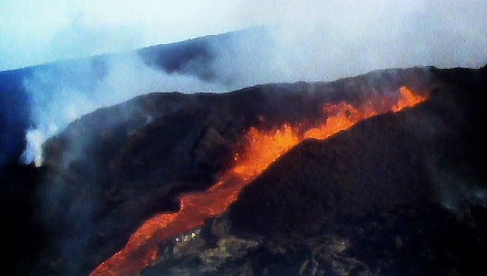Río de lava en El Hierro