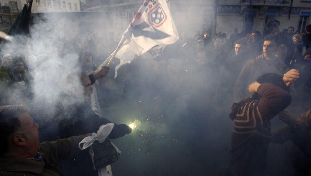 Manifestación en Lisboa