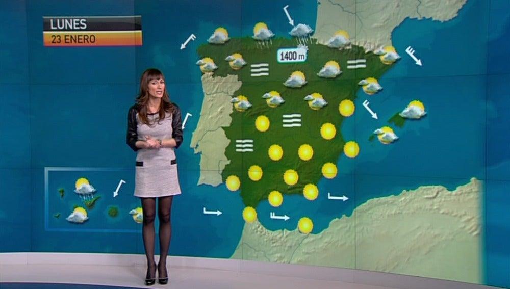 La previsión del tiempo, 22-01-2012, noche