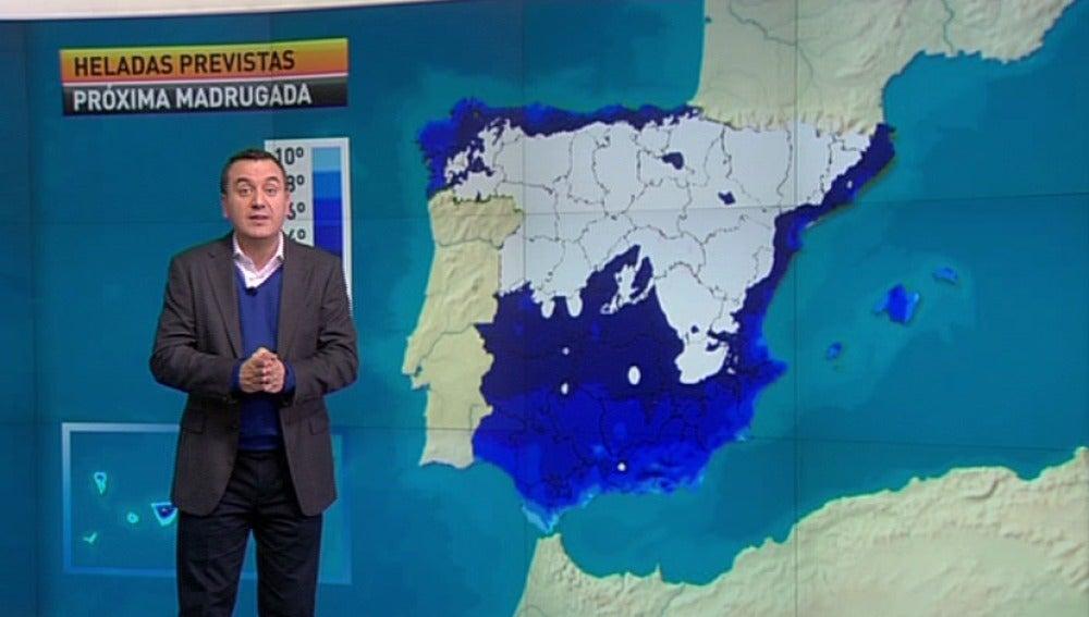 La previsión del tiempo, 24-01-2012, noche