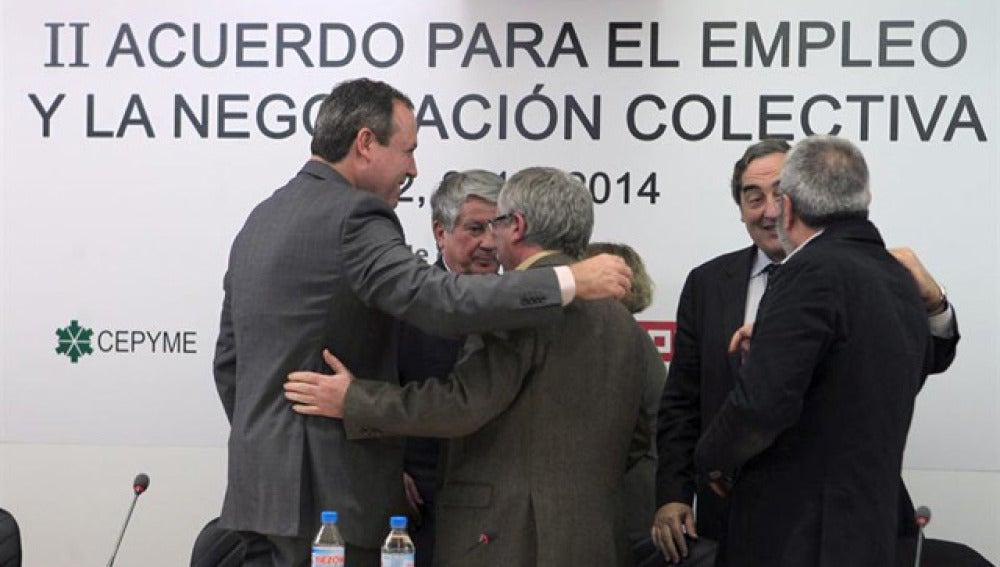 Sindicatos y patronal se felicitan por el acuerdo