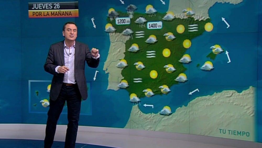 La previsión del tiempo (25-01-2012) Noche