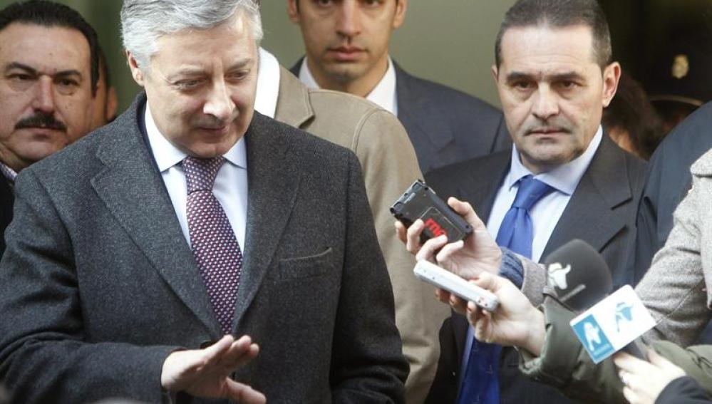 El exministro de Fomento y actual diputado socialista, José Blanco, a su salida del Tribunal Supremo