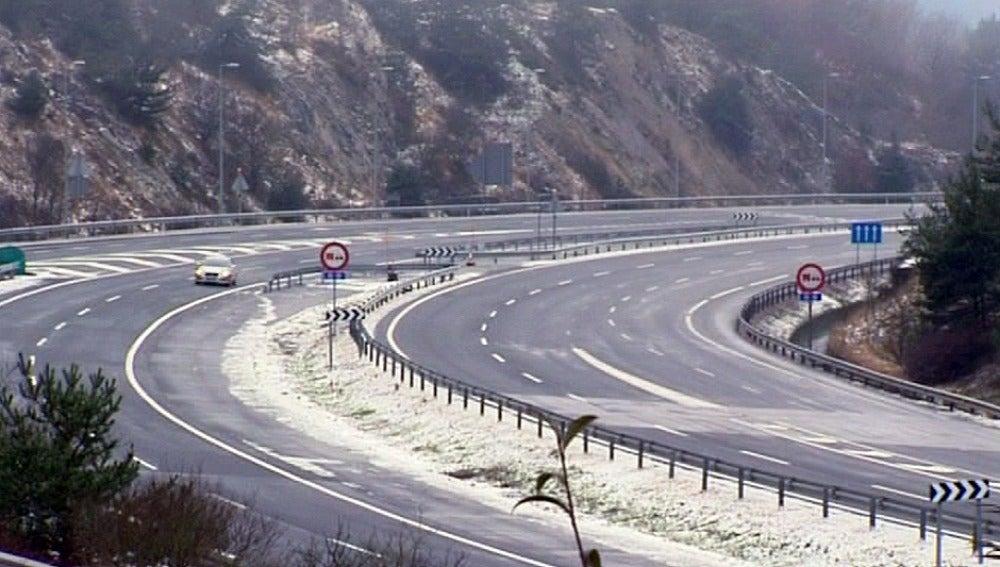 Una nieve fuerte en el País Vasco