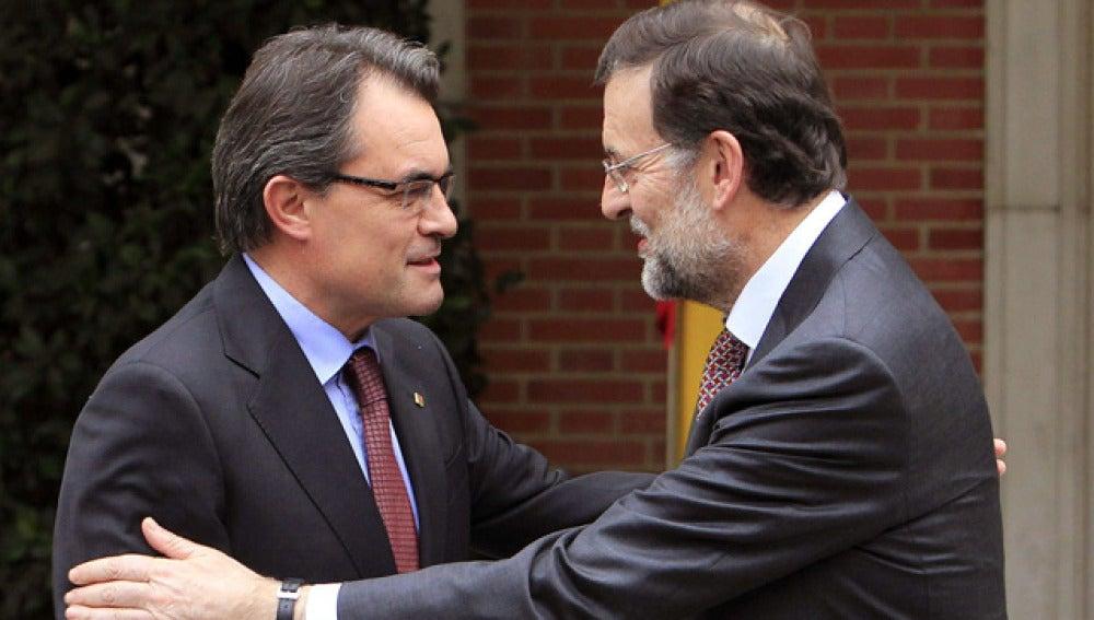 Rajoy con Artur Mas, en Moncloa