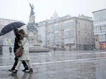 Temporal de nieve en Vitoria