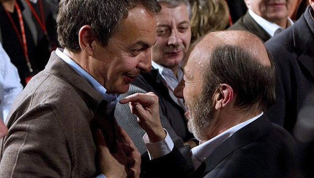 Zapatero saluda a Rubalcaba