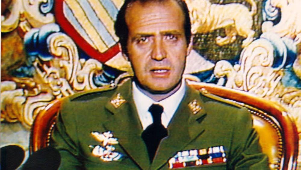 El rey Juan Carlos I el 23-F