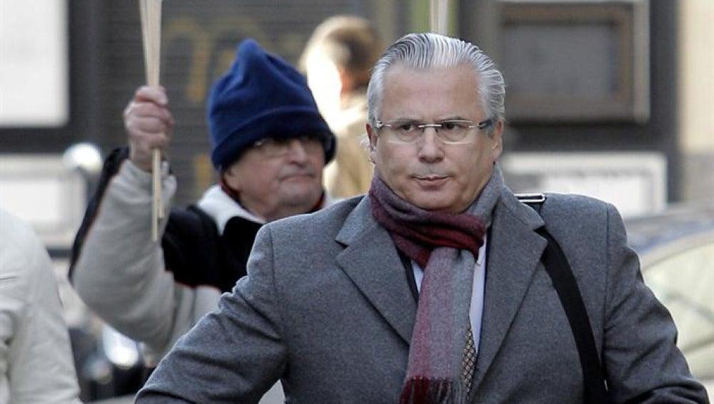 Garzón, a su llegada al Tribunal Supremo